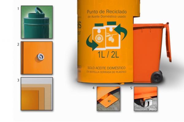 Contenedores para recogida de aceites usados