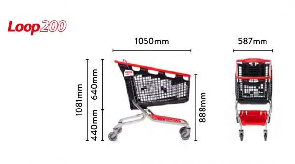 Nuevo carro de supermercado Loop 200 L