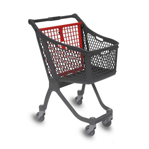 Nuevo carrito de compra de plástico de 75 L