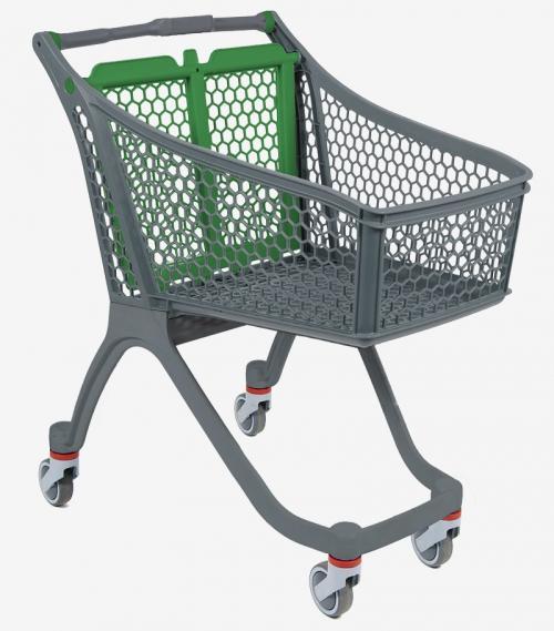 Carrito de supermercado de plástico - Distoc