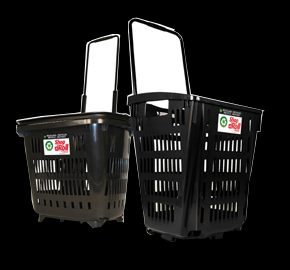 Cestas de supermercado recicladas con ruedas