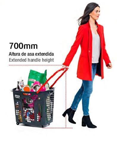 Nuevas cestas de 80 L con ruedas para supermercados - Distoc