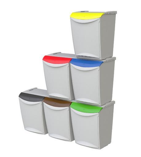Nuevos contenedores de basura modulables para reciclaje