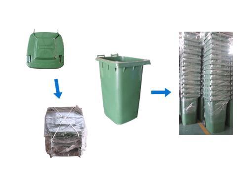 La logística en el envio de contenedores de basura 120 L
