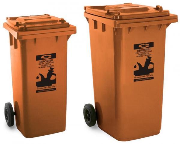 Contenedores para reciclaje de aceites de cocina usados