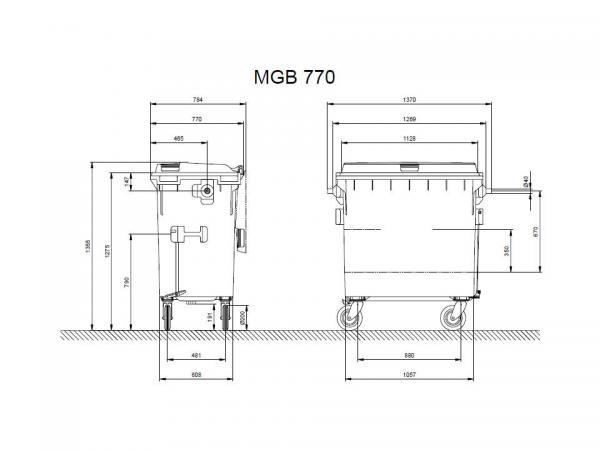¿Como elegir el tamaño de contenedor de basuras compatible con el camión de recogida?