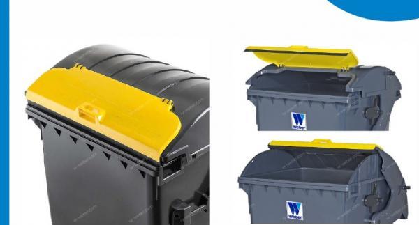 Contenedores de basura con dobe tapa basculante