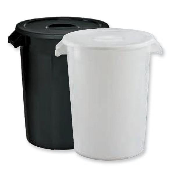 Nuevo cubo de basura para comunidad de 100 L en color marrón.