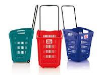 Cestas de supermercado con ruedas 52 L -