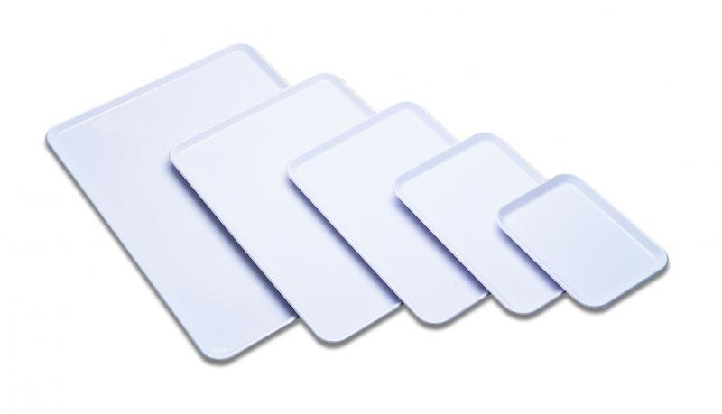 Bandejas planas hosteleria - Bandejas planas. Disponibles en color blanco y en negro.
