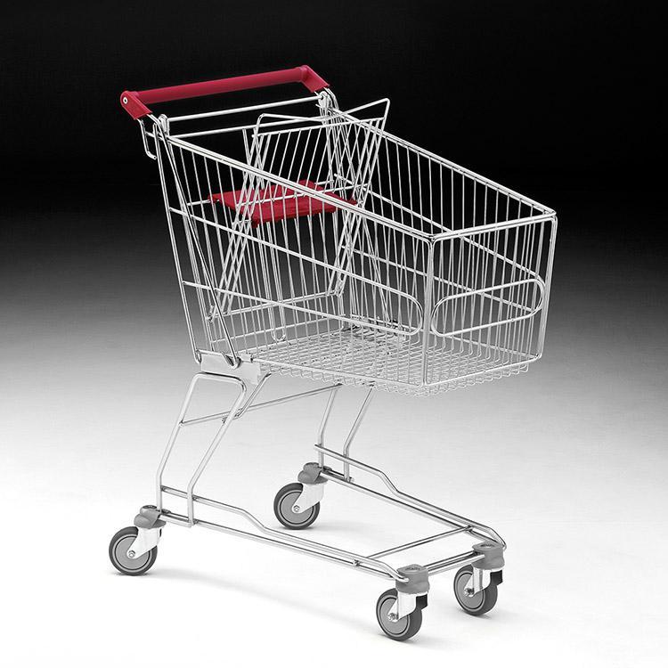 Carro compra supermercado metálico - Carro de compra metálico para supermercados y autoservicios, diferentes tamaños.