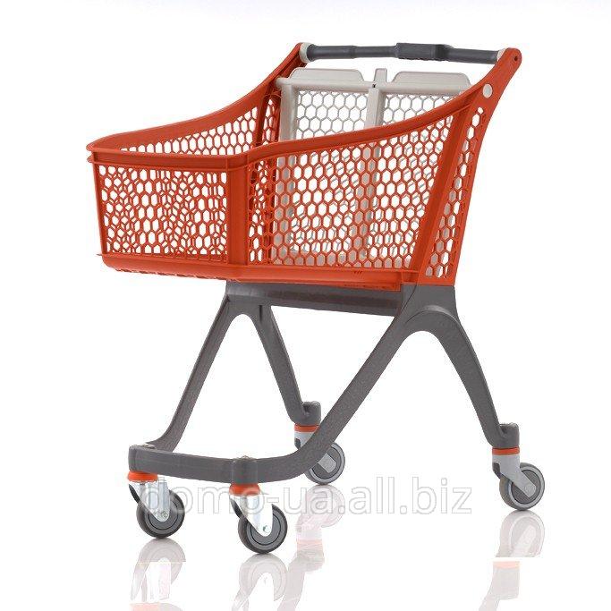 Carro de supermercado plástico - Carros de compra para supermercados. Carritos de compra de diferentes tamaños.