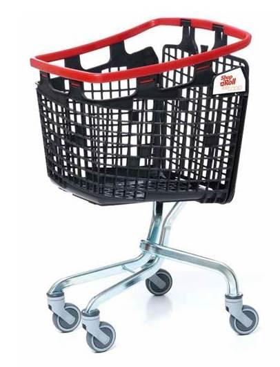 Carro Supermercado plástico Loop - Carros de supermercado y autoservicio de plástico, diseño compacto.