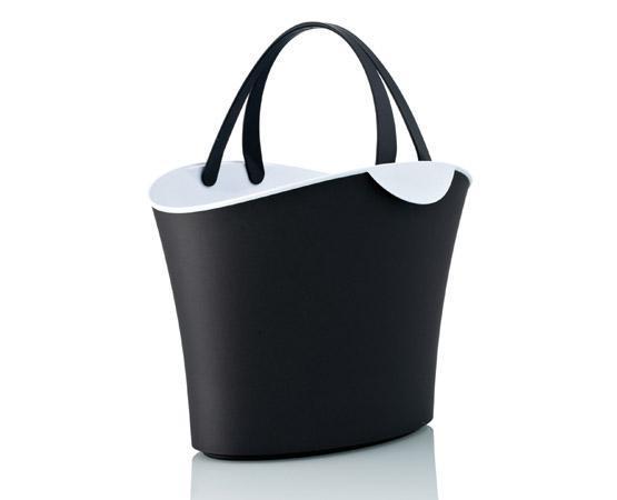 Cesta de compra diseño 15 L negra y blanca -