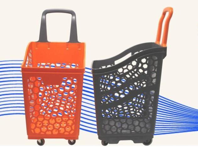 Cestas Supermercado 65 L con ruedas - Cestas de supemercado con ruedas de 65 L de capacidad