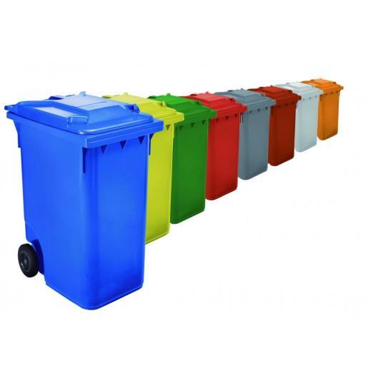 Contenedores de basura 360 L - Contenedores de basura con ruedas de 360 L de capacidad