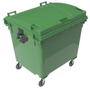 Contenedores de basura 1100 L tapa plana -
