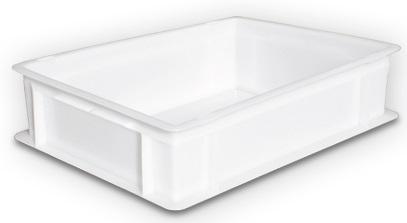 Cubeta 400x300x90 - Cubeta de 400x300x mm de 7,5 L de capacidad. Apta para uso alimentario.