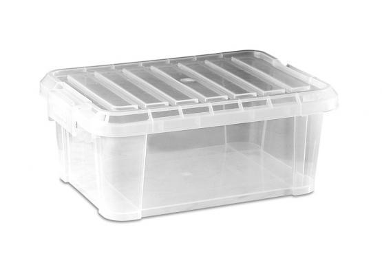 Cubeta con tapa transparente - Cubeta transparente con tapa, apta uso alimentario.