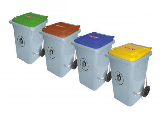Cubos de basura con pedal metálico - Cubos de basura con pedal metalico de 80, 100 y 120 L de capacidad.