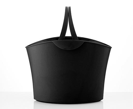 Cesta de compra diseño 15 L negra